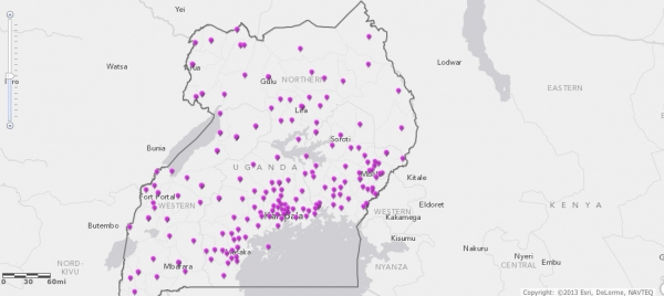 JLOS has implemented a GIS Project that provides technology driven mapping of JLOS infrastructure in Uganda (Image: JLOS Media/GIS Project)