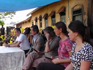 Austrian Development Agency (ADA) officials attending a function at Lira Prison on November 27, 2014. On the extreme left, is Mr. Martin Ledolter, the ADA Managing Director (PHOTO: JLOS)