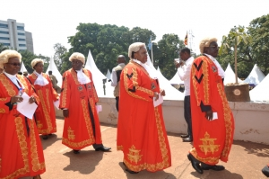 High Court judges at a recent ceremony (PHOTO: JLOS)
