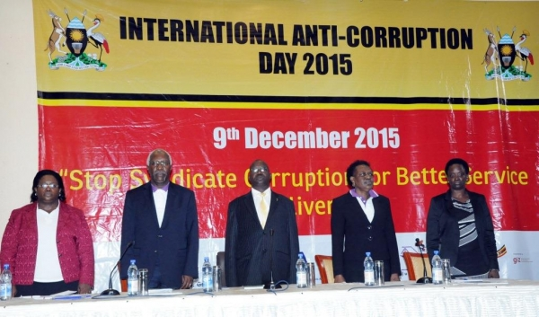 Heads of anti-corruption agencies at the 2015 anti-corruption media breakfast on December 9 2015 (PHOTO: IGG)