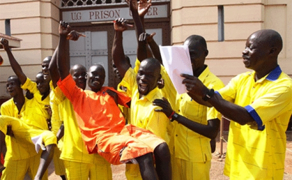 A file photo of prisoners who passed their A-Level exams
