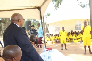 The Principal Judge at Mbarara Main Prison (PHOTO: Judiciary)