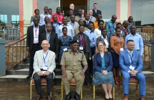 Uganda Police officers who participated in the transnational organized crime training
