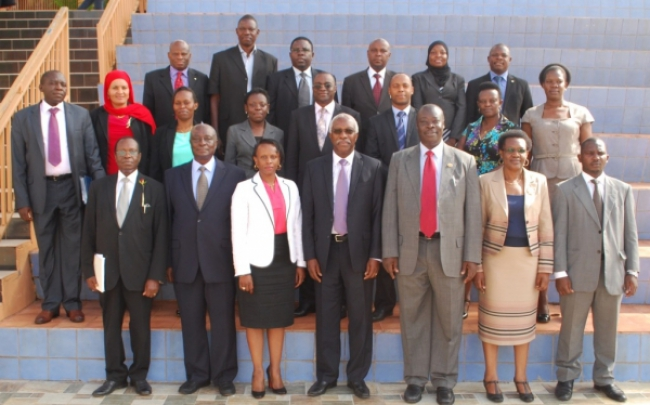 Participants at the JLOS a high level breakfast meeting on 04th December 2014 at Hotel Africana